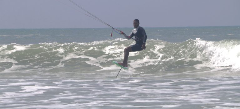 Foil Kitesurfing session in Essaouira